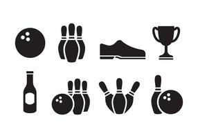 Conjunto grátis de ícones de boliche vetor