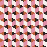 padrão de cubo geométrico 3D sem costura vetor