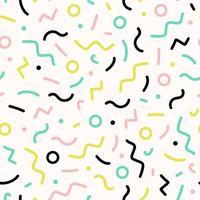 padrão de linhas geométricas seamlelss memphis vetor