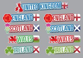 Títulos do Reino Unido vetor