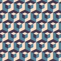 padrão sem emenda de cubos geométricos abstratos vetor