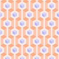 3d geométrico pasel cubos padrão sem emenda vetor