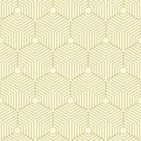 padrão geométrico de cubos de linha dourada vetor
