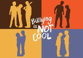 Silhueta do bullying vetor