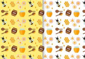 Pacote grátis de modelos de padrões de mel vetor