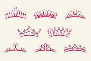 Conjunto de cunhada da coroa vetor