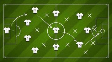 futebol ou campo de futebol com ícones de camisa de futebol