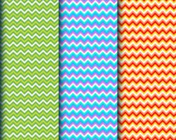 padrões de listras geométricas coloridas vetor