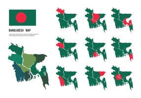 Vetores livres do mapa de Bangladesh