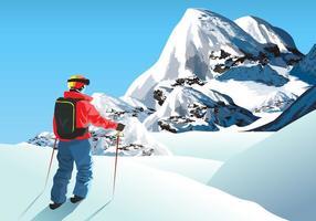 Escalador do Everest vetor
