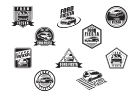 Etiquetas do vetor Ford Fiesta