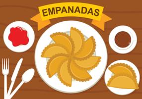 Ilustração vetorial Empanadas vetor