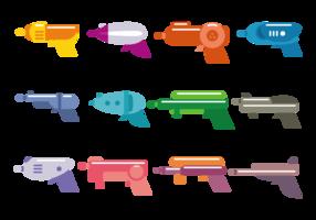 Vetor de brinquedos tag laser