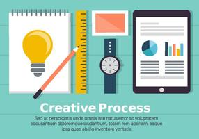 Ilustração de processo criativo grátis vetor