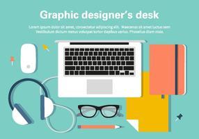 Ilustração de mesa de designer grátis