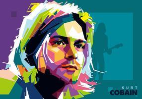 Kurt Cobain em Popart Portrait vetor