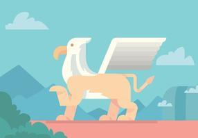 Projeto do vetor do leão voado