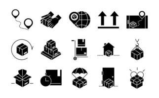 pacote de ícones de entrega e logística