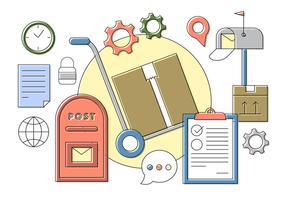 Elementos gratuitos do vetor postal