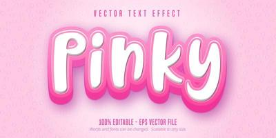 texto rosado, efeito de texto estilo desenho animado
