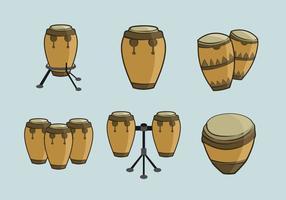 Conga percussão de música tradicional vetor