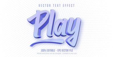 jogar texto, efeito de texto de estilo de jogo vetor