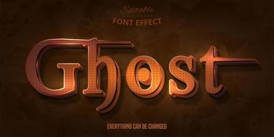 texto fantasma, efeito de fonte editável em 3D vetor