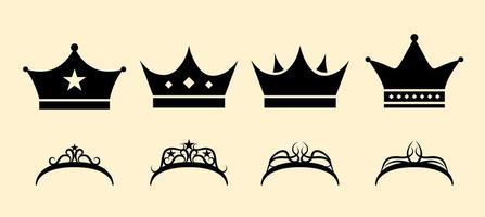 Conjunto de coroa livre vetor