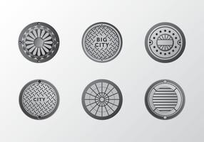 Metal gradiente Manhole pacote de ornamento vector