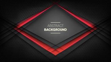 textura futurista de favo de mel preto digital com luz neon vermelha vetor