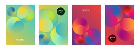 lindo design de modelo de relatório anual de esfera gradiente