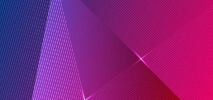 design abstrato de linhas diagonais gradiente em azul e rosa vetor