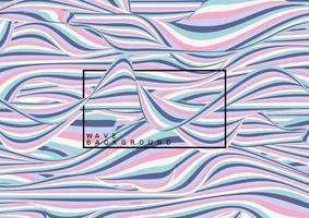 padrão de linhas de onda de cor pastel abstrato
