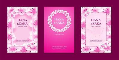 convites de casamento flor de cerejeira sakura