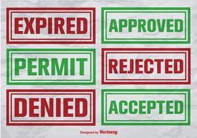 Selos de vetores certificados