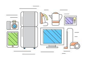 Ícones do vetor de eletrodomésticos