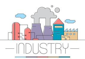 Ilustração gráfica grátis da fábrica vetor