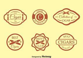 Conjunto de vetores de etiqueta de cigarro
