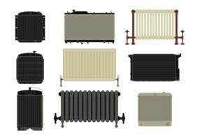 Ícones do vetor do radiador
