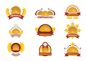 Emblemas Vector Empanadas