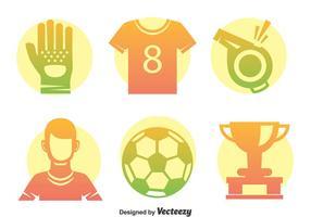 Conjunto de vetores de elementos de futebol