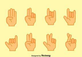 Vetor de coleção de gestos de mãos agradáveis