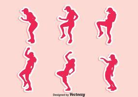 Conjunto de vetores zumba dance