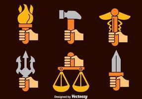 Vector de símbolos da mitologia grega