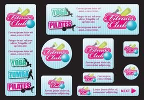 Banners de fitness vetor