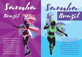 Panfletos de samba vetor