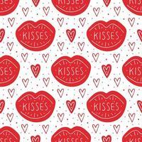 beijos de coração vetor
