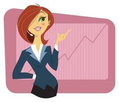 jovem mulher em um terno de negócio vetor