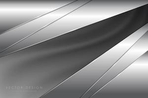 painéis cinza metálico angulares com textura de seda vetor