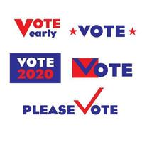 Gráficos de votação das eleições de 2020 vetor